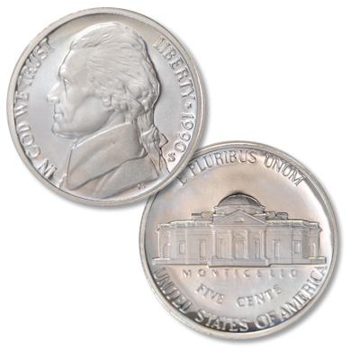 Image for 1990-S Jefferson Nickel Proof from Littleton Coin Company