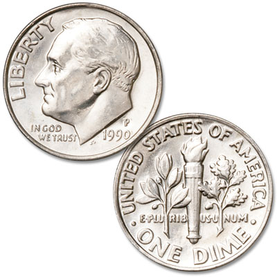 Image for 1990-P Roosevelt Dime from Littleton Coin Company