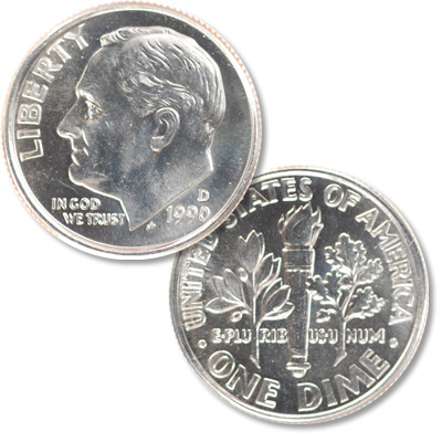 Image for 1990-D Roosevelt Dime from Littleton Coin Company