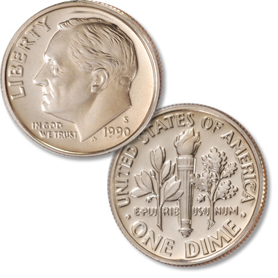 Image for 1990-S Roosevelt Dime from Littleton Coin Company