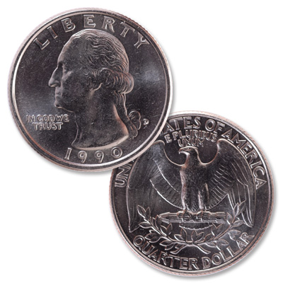 Image for 1990-D Washington Quarter from Littleton Coin Company