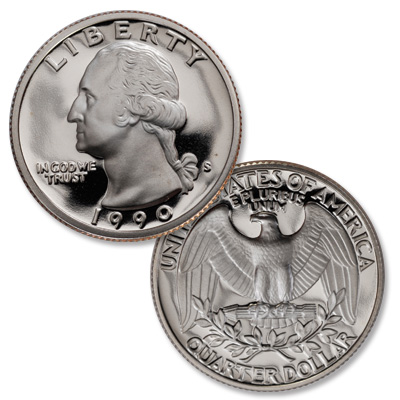Image for 1990-S Washington Quarter from Littleton Coin Company