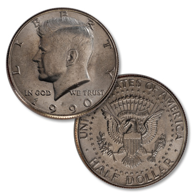 Image for 1990-P Kennedy Half Dollar from Littleton Coin Company