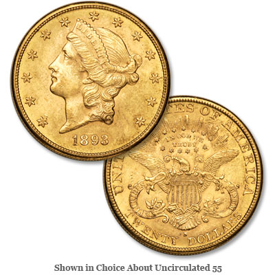 Image for 1893-S Liberty Head $20 Gold from Littleton Coin Company