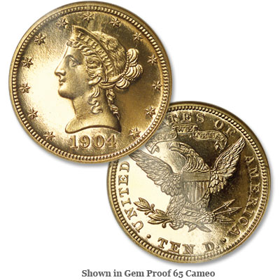 Image for 1904 Liberty Head $10 Gold Eagle from Littleton Coin Company