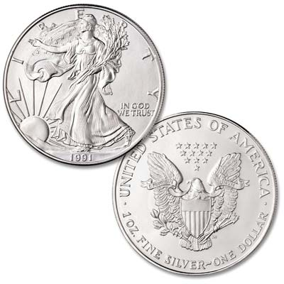 Image for 1991 $1 Silver American Eagle from Littleton Coin Company