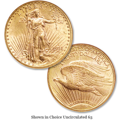 Image for 1911-D Saint-Gaudens $20 Gold Double Eagle from Littleton Coin Company