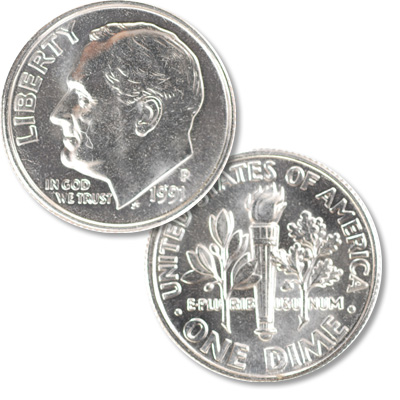 Image for 1991-P Roosevelt Dime from Littleton Coin Company