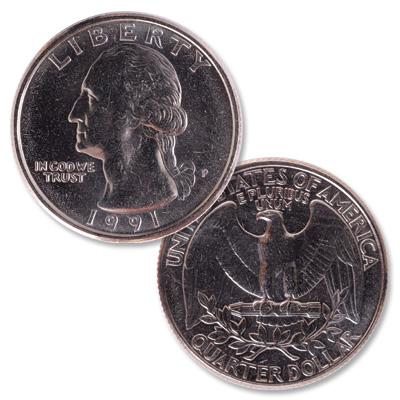 Image for 1991 Washington Quarter from Littleton Coin Company