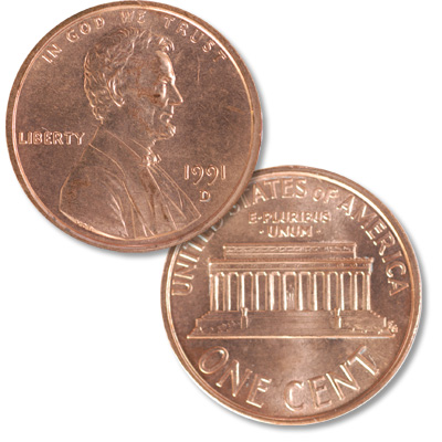Image for 1991-D Lincoln Head Cent from Littleton Coin Company