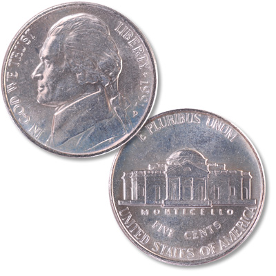 Image for 1991-P Jefferson Nickel from Littleton Coin Company