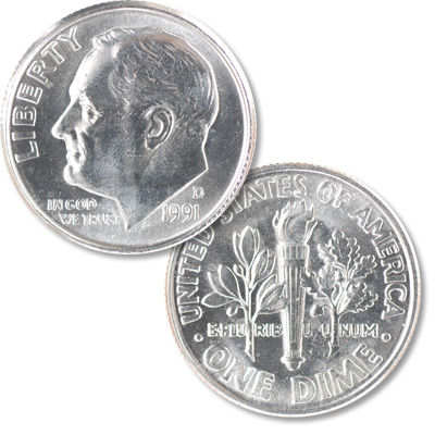 Image for 1991-D Roosevelt Dime from Littleton Coin Company