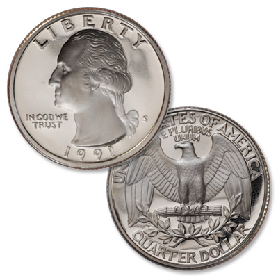 Image for 1991-S Washington Quarter from Littleton Coin Company