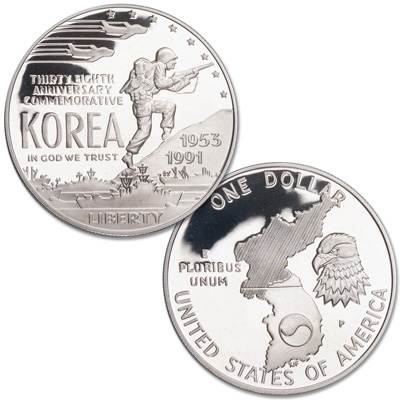 Image for 1991-P Korean War Memorial Silver Dollar from Littleton Coin Company