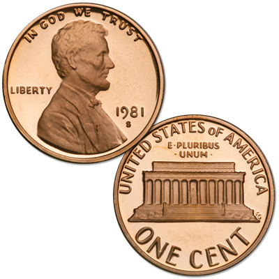 Image for 1981-S Lincoln Head Cent Filled S, Choice Proof, PR63 from Littleton Coin Company