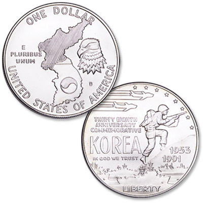 Image for 1991-D Korean War Memorial Silver Dollar from Littleton Coin Company
