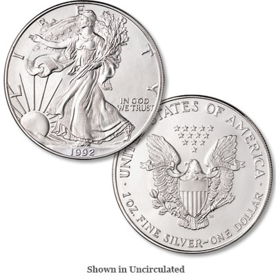 Image for 1992 $1 Silver American Eagle, Uncirculated from Littleton Coin Company