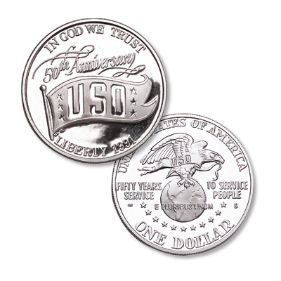 Image for 1991-S USO 50th Anniversary Silver Dolar Commemorative from Littleton Coin Company