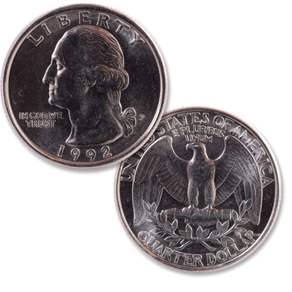 Image for 1992 Washington Quarter from Littleton Coin Company
