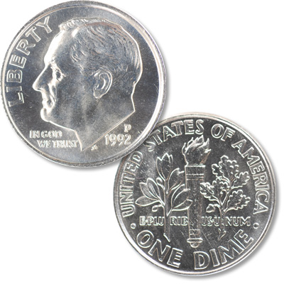 Image for 1992-P Roosevelt Dime from Littleton Coin Company