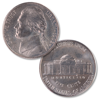Image for 1992-P Jefferson Nickel from Littleton Coin Company