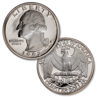 Image for 1992-S Washington Quarter from Littleton Coin Company