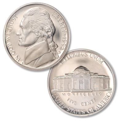 Image for 1992-S Jefferson Nickel Proof from Littleton Coin Company
