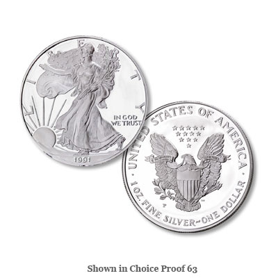 Image for 1991-S $1 Silver American Eagle, Choice Proof, PR63 from Littleton Coin Company
