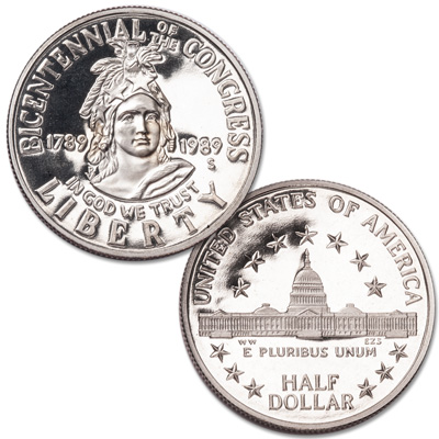 Image for 1989-S Congress Bicentennial Clad Half Dollar from Littleton Coin Company