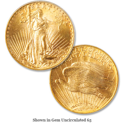 Image for 1913-D Saint-Gaudens Gold $20 Double Eagle from Littleton Coin Company
