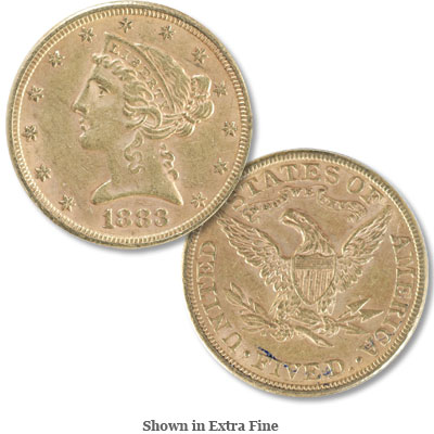 Image for 1883 Liberty Head $5 Gold from Littleton Coin Company