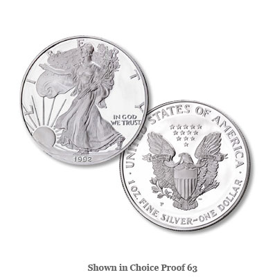 Image for 1992-S $1 Silver American Eagle, Choice Proof, PR63 from Littleton Coin Company