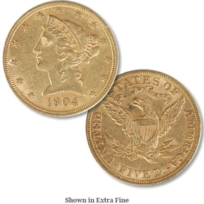 Image for 1904 Liberty Head $5 Gold from Littleton Coin Company
