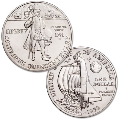 Image for 1992-D Christopher Columbus Quincentenary Silver Dollar from Littleton Coin Company