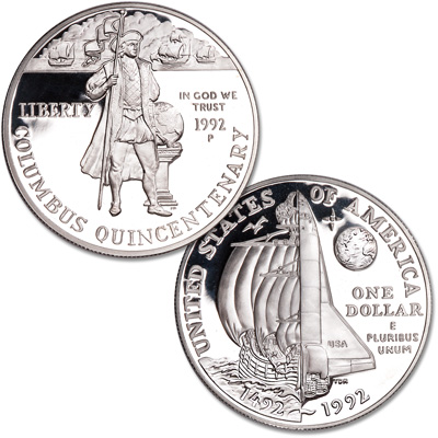 Image for 1992-P Columbus Commemorative Silver Dollar, Choice Proof, PR63 from Littleton Coin Company