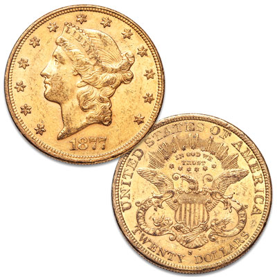 Image for 1877-S Liberty Head $20 Gold Piece from Littleton Coin Company