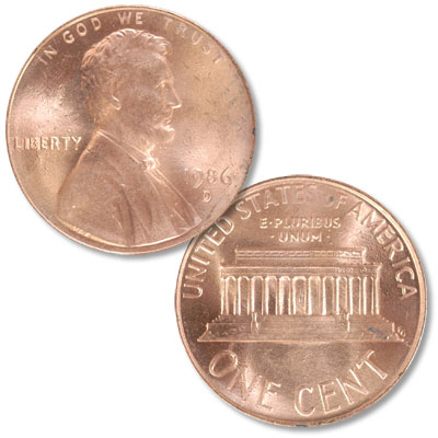 Image for 1986-D Lincoln Head Cent from Littleton Coin Company