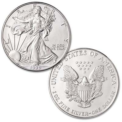 Image for 1993 $1 Silver American Eagle, Uncirculated from Littleton Coin Company
