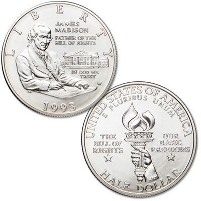 Image for 1993-W Bill of Rights Silver Half Dollar from Littleton Coin Company