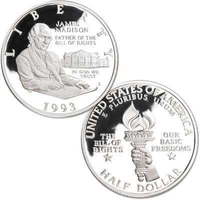 Image for 1993-S Bill of Rights Silver Half Dollar from Littleton Coin Company