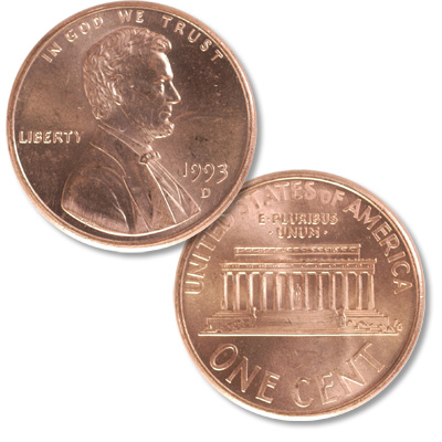 Image for 1993-D Lincoln Head Cent from Littleton Coin Company