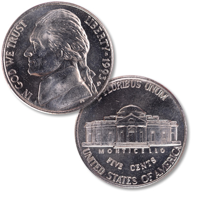 Image for 1993-P Jefferson Nickel from Littleton Coin Company