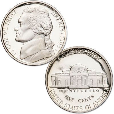 Image for 1993-S Jefferson Nickel Proof from Littleton Coin Company