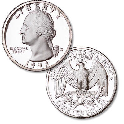 Image for 1993-S Washington Quarter from Littleton Coin Company