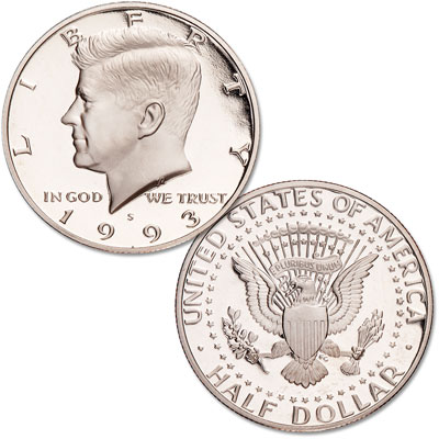 Image for 1993-S Kennedy Half Dollar, Clad, Proof from Littleton Coin Company