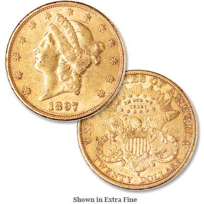 Image for 1897-S Liberty Head $20 Gold from Littleton Coin Company