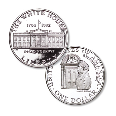 Image for 1992-W White House 200th Anniversary Silver Dollar from Littleton Coin Company