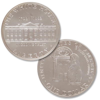 Image for 1992-D White House 200th Anniversary Silver Dollar from Littleton Coin Company