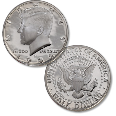 Image for 1992-S 90% Silver Kennedy Half Dollar from Littleton Coin Company