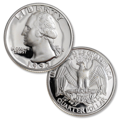 Image for 1993-S Silver Washington Quarter from Littleton Coin Company
